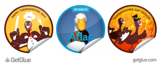 pressplate6 520x216 Aflac will donate $1 to fight cancer for every Thanksgiving GetGlue check in