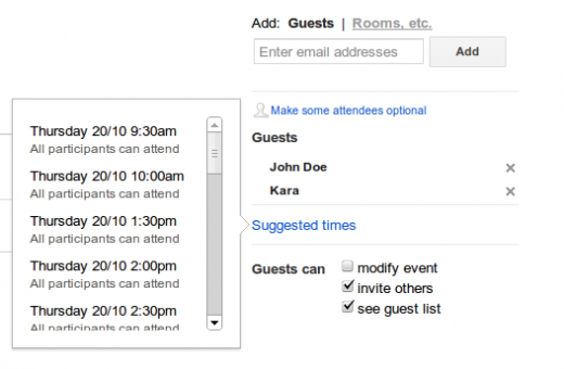 suggestedtimes 520x340 Google Calendar launches Suggested Times feature