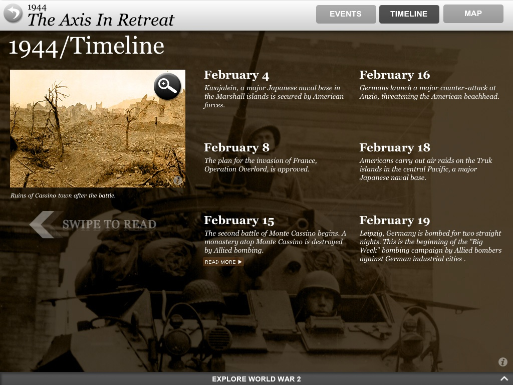 World War II Interactive for iPad is all about the historic event