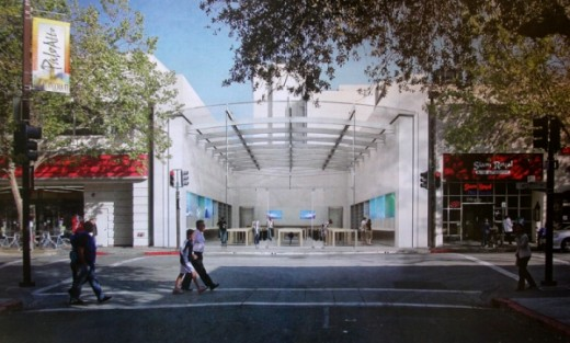 18391 full 520x313 Apple to begin construction on new prototype Palo Alto Store with a skylight, trees and more