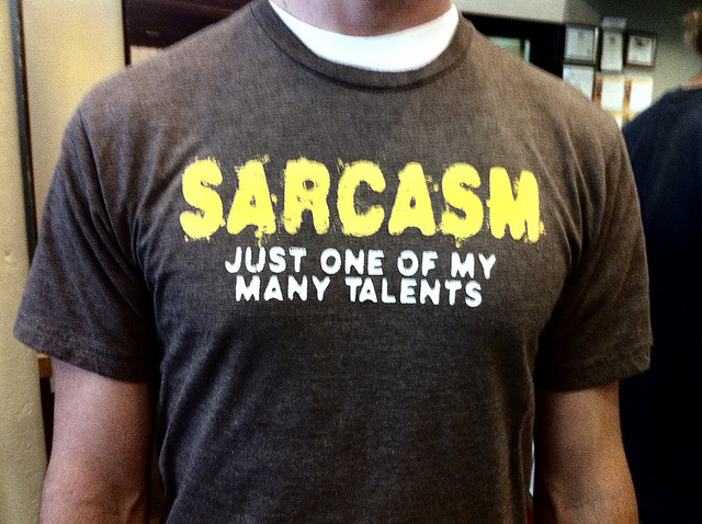 Finally, sarcasm has a voice in print with its own font