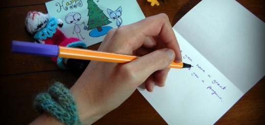 christmas card writing