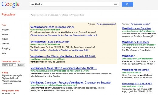 Buscapé search results 520x314 Anti trust investigation looming against Google Shopping in Brazil
