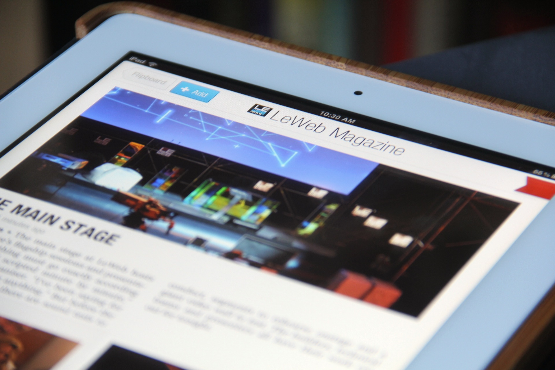 Experience LeWeb with the first ever conference magazine for Flipboard, from Fotopedia