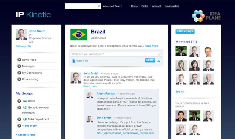 IdeaPlane: Social Network for Finance Industry