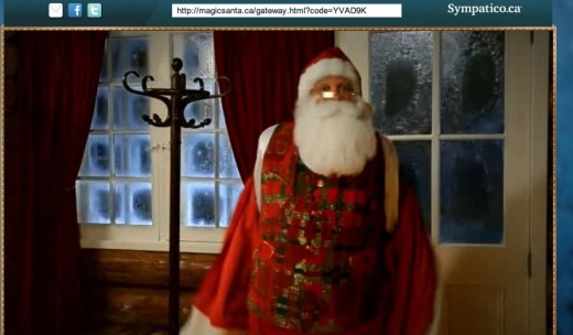 Magic Santa reveals the magic of Christmas to Drew MagicSanta Send a somewhat creepy personalized video greeting from Santa with this iOS app