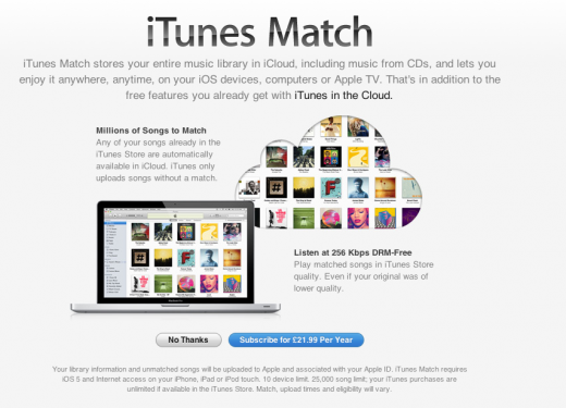 Match UK 520x375 Apple rolling out iTunes Match in UK, Canada, AUS and Europe, with some early bugs