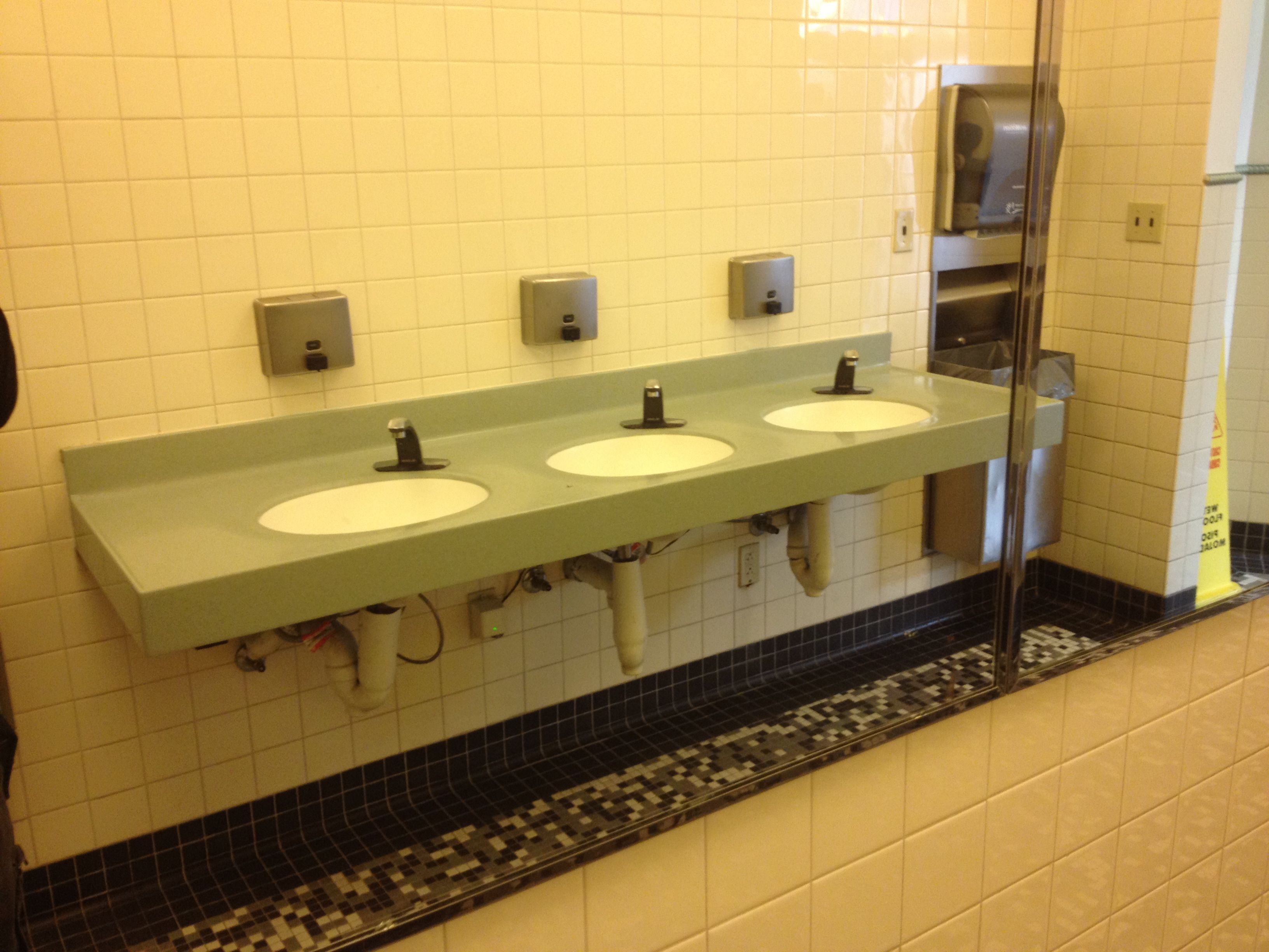 The devil is in the details for Public bathroom sink
