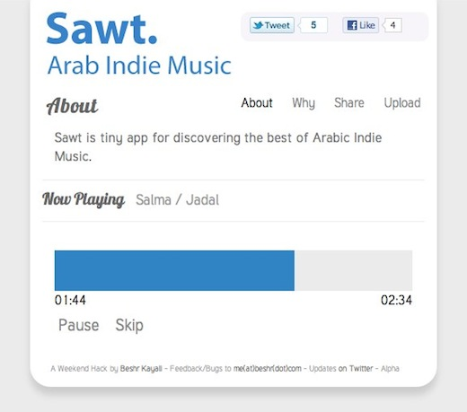 Sawt Discover and listen to Middle Eastern indie bands with Sawt