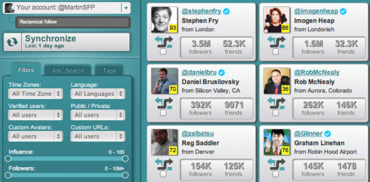 Screen Shot 2011 12 13 at 16.07.05 520x256 SocialBro integrates PeerIndex to help you understand more about your Twitter community