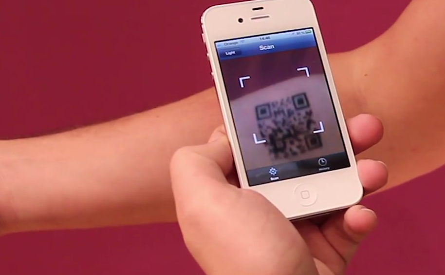The first random tattoo: generates videos, pictures, Tweets via QR code