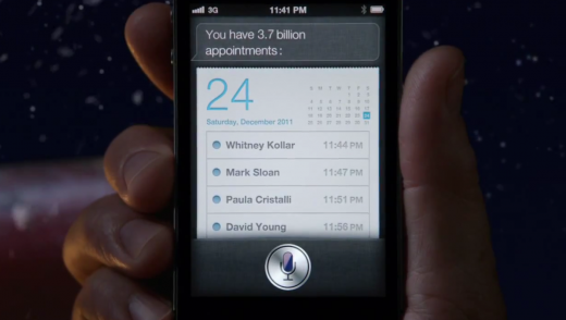 Screen Shot 2011 12 19 at 09.18.45 520x294 In Apples Santa ad, Siris appointments are for staff at Apples marketing firm
