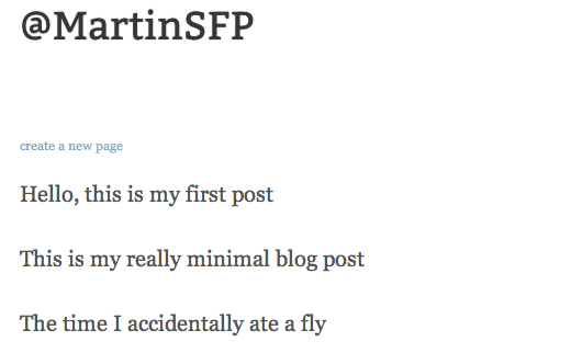 Screen Shot 2011 12 20 at 11.49.40 Pen.io is now probably the most minimalist blog platform on the Web