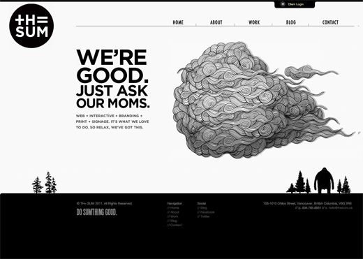 Black and white site