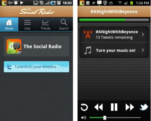 TheSocialRadio 520x418 The Social Radios new Android app lets you listen to your tweets