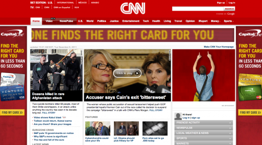 cnn1 520x288 Ads: The Death of User Experience on CNN, Forbes, Mashable