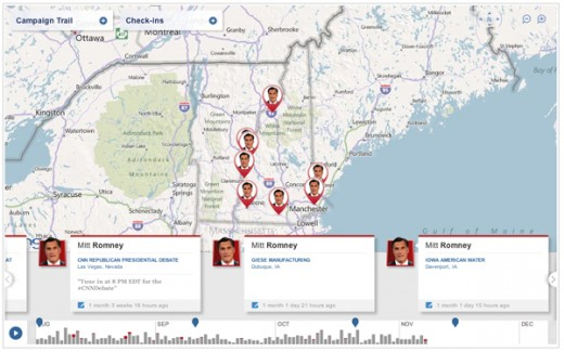 foursquare1 520x325 NBCPolitics and foursquare team up for Presidential Election Campaign Check ins