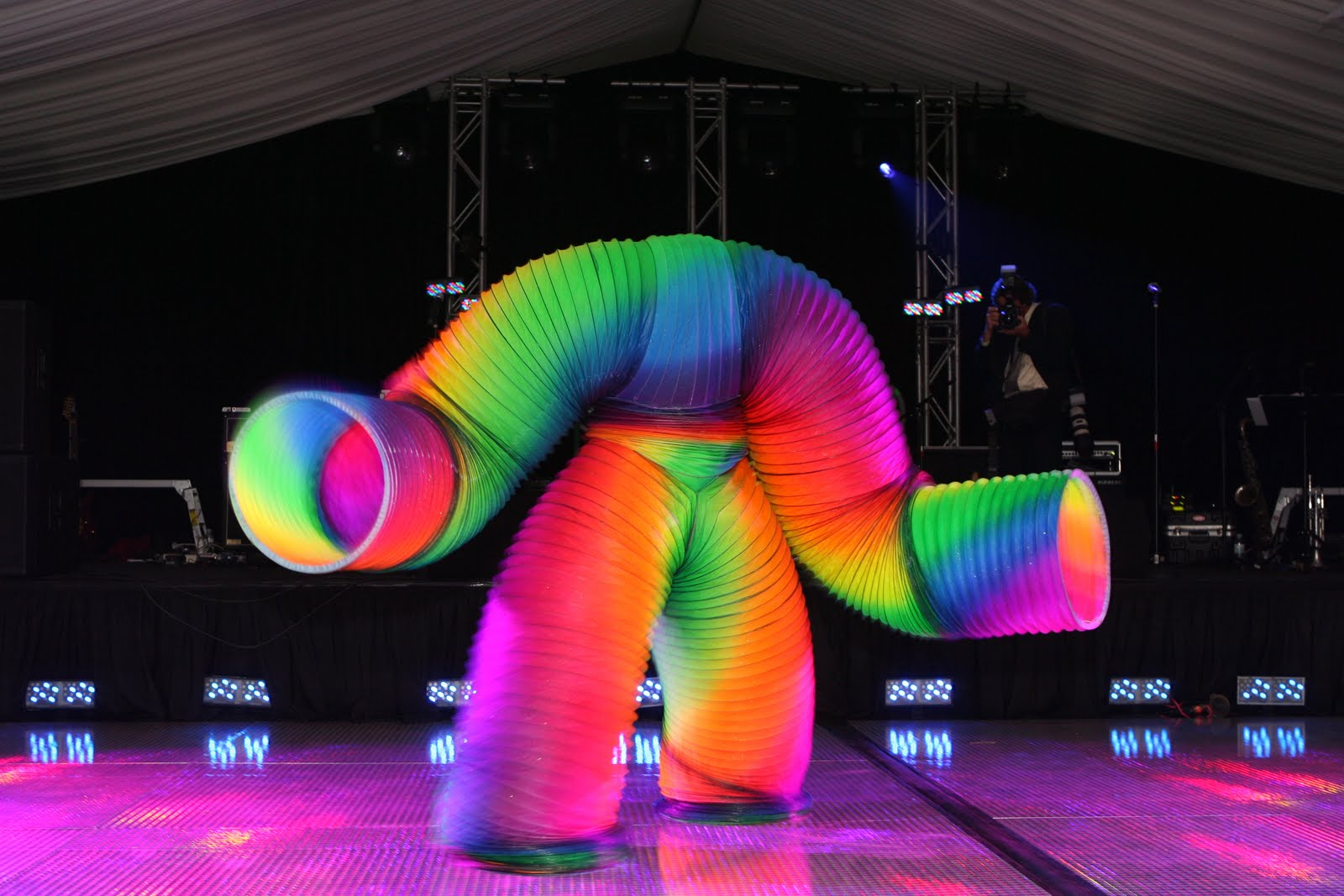 Holy mother of late Christmas shopping, it's a $1m human slinky outfit