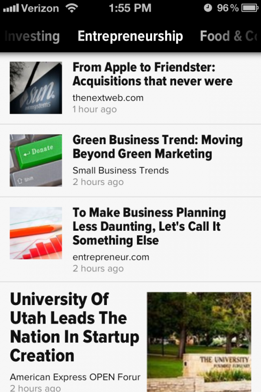 iPhone Category 520x780 Zite, the smart iPad newspaper, is now available on your iPhone
