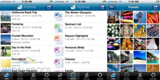 iphone3 520x260 Microsoft has released SkyDrive apps for both Windows Phone and the iPhone