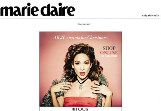 marie claire 520x359 Ads: The Death of User Experience on CNN, Forbes, Mashable