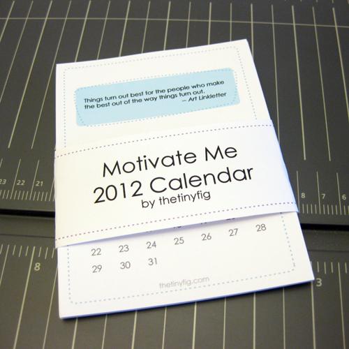 Diy Quote Calendar : Diy calendars for