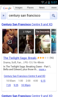 movies2 Google adds summaries, trailers, ratings and more to speed mobile movie search