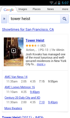 movies3 Google adds summaries, trailers, ratings and more to speed mobile movie search