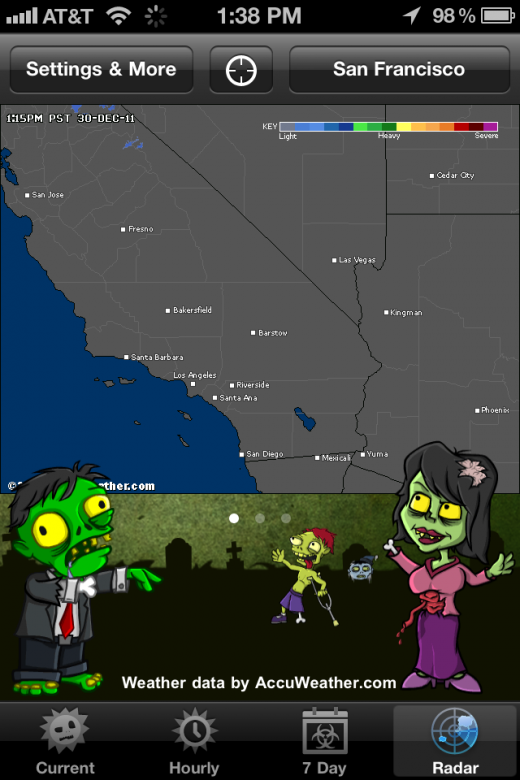 photo 217 520x780 The Weather Zombie app will alert you when it RAAAAAIIIIIINNNNSS