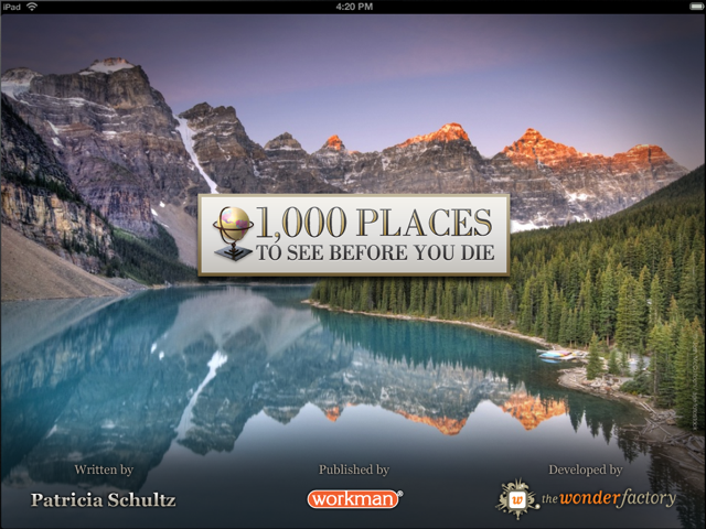 '1,000 Places to See Before You Die' looks way better on the iPad