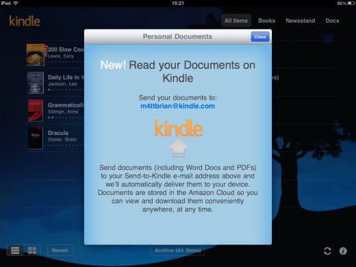 photo5 520x390 Amazon updates Kindle for iOS, allows iPad owners to access Kindle Fire magazines