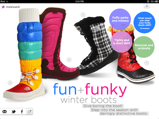 share1 Zappos ZN Mobile e commerce meets a lifestyle magazine on the iPad