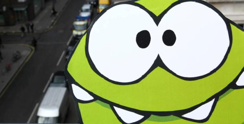 Microsoft's real-world 3D 'Cut the Rope' lets fans in London 'jump' into the game