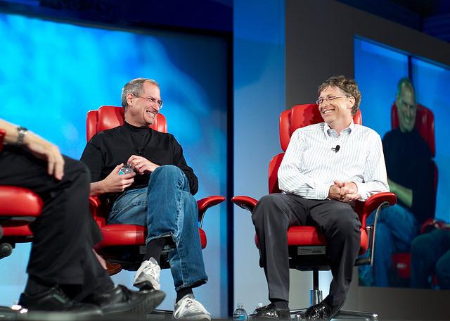 Steve Jobs kept a letter written to him by Bill Gates by his bedside
