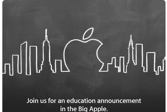 Apple announces event focusing on education in New York on Jan. 19