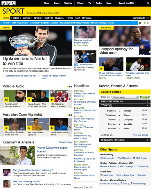 BBC Sport Redesign 520x652 BBC Sport online to relaunch with a new design, focusing on live sports coverage