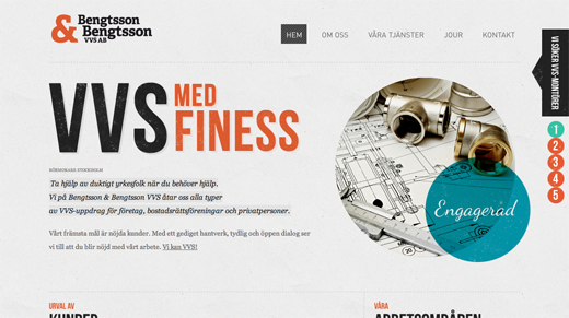 Bengtsson Bengtsson VVS AB Rörmokare Stockholm 9 Excellent examples of scrolling websites for designers