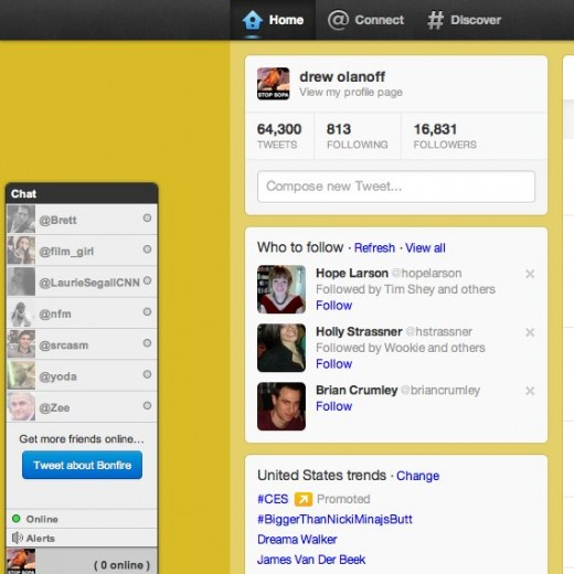 Convofy 109 520x520 Bonfire chat extension makes Twitter feel a little more like Facebook