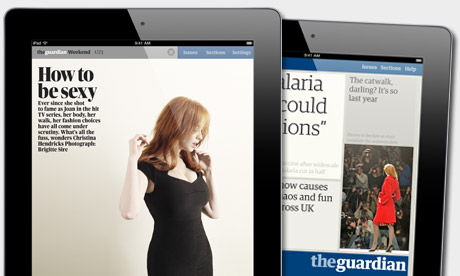 Guardian iPad The UKs Guardian newspaper notches up 500,000 iPad app downloads
