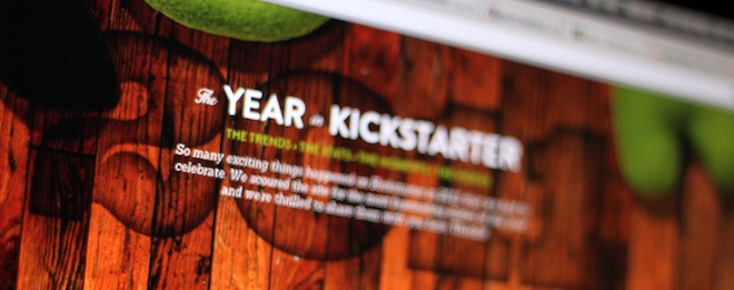 Crowdfunding site Kickstarter received over 30m visitors in 2011, and almost $100m in pledges