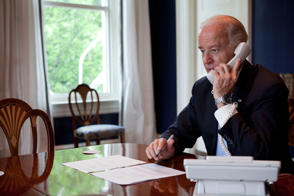 Joe Biden on the phone
