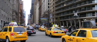 NYC cabs by CJ Isherwood