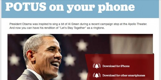 POTUS on your phone — Ringtone — Barack Obama 1 520x257 President Barack Obama approves this official ringtone, so go download it
