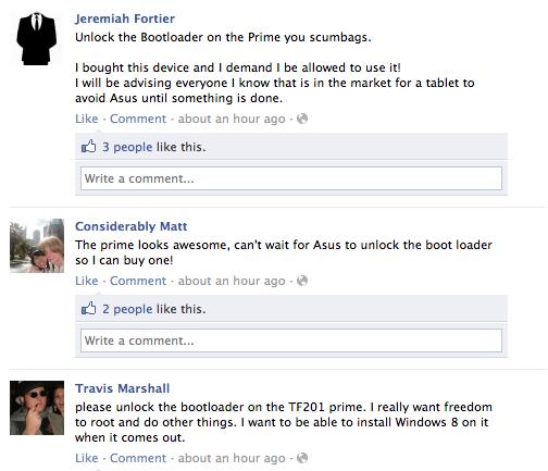 Screen Shot 2012 01 02 at 08.05.10 Asus faces customer backlash over Transformer Primes locked bootloader