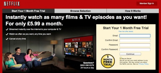 Screen Shot 2012 01 09 at 07.26.01 520x237 Netflix arrives in the UK at £5.99 per month, launches with one month free trial
