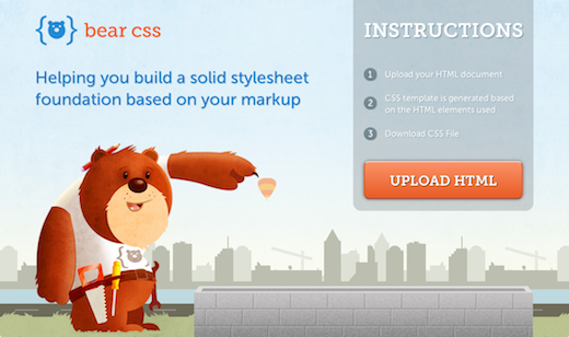 bear css creates the perfect stylesheet template