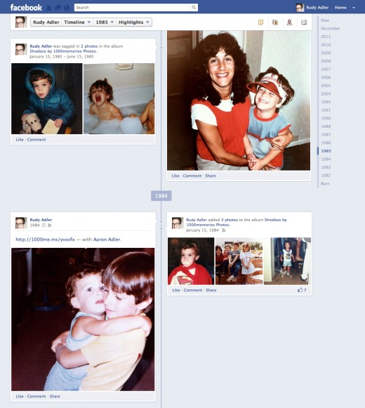 ShoeBox 4 Timeline 520x581 1000memories launches Facebook Timeline integration to help fill in the gaps
