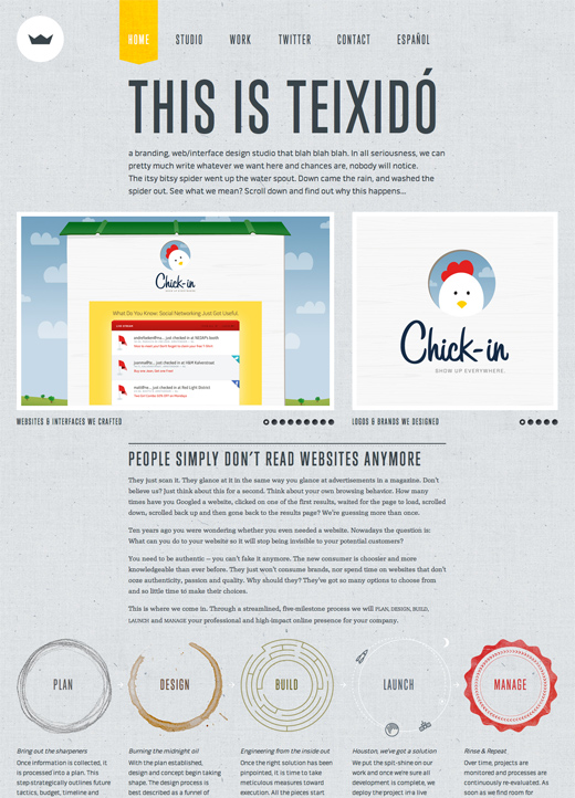 TEIXIDÓ 16 Beautiful examples of texture in web design