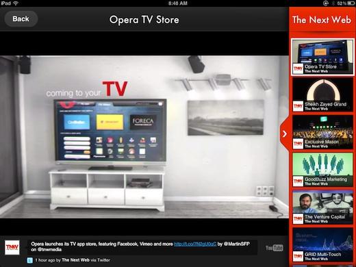 Vodio3 iPad app Vodio is Flipboard for Videos