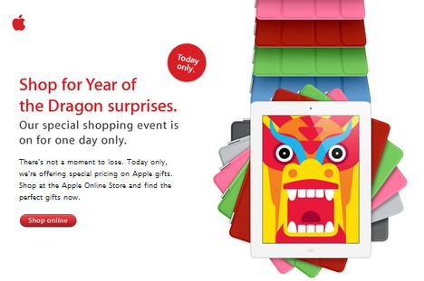 apple dragon sale Apples one day Year of the Dragon sale goes live across Asia